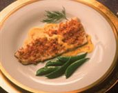 Rainbow Trout with Horseradish Crust and Saffron Sauce