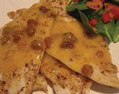 Sole with Orange Raisin Sauce