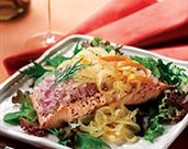 Chilled Salmon Salad with Orange-Citrus Onions