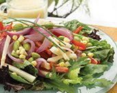 Sweet Veggie Onion Salad with Margarita Dressing