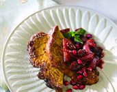 Cinnamon French Toast with Pomegranate-Apple Compote