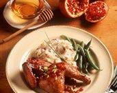 Pomegranate-Honey Roasted Game Hens