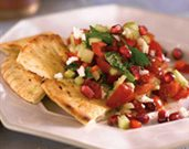 Turkish Chopped Salad with Pomegranate Seeds