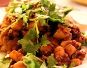 Chickpea and Lentil Sauté with Apples and Curry