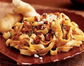 Pasta with Sun-Dried Tomato Pesto and Feta