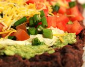Guilt-Free, Healthy Seven-Layer Bean Dip