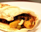 Spicy Samosa Wraps with Tamarind Chutney