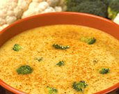 Curried Broccoli and Cauliflower Soup