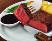 Beef Flat Iron Steak with Balsamic Pepper Sauce