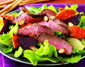 Cumin-Rubbed Steak and Roasted Root Vegetable Salad