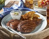 Grilled Ribeye Steaks and Potatoes with Smoky Paprika Rub