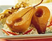 Braised  Pears with Soy-Ginger Glaze