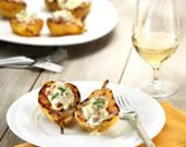 Grilled Pears Stuffed with Mascarpone and Bacon