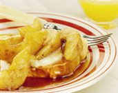 Maple-Glazed Pears with French Toast