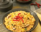 Red Curry Coconut Rice with Pork