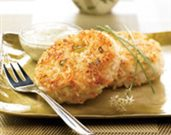 Shrimp and Rice Patties with Creamy Cilantro Sauce