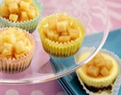 Mini Ch�vre Cheesecakes with Pears in Lavender Honey