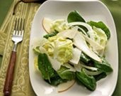 Pear and Spinach Salad with Parmesan Vinaigrette