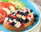 All-American Chicken Blueberry Salad Platter