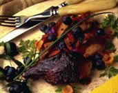 Roast Duck with Blueberry Sauce