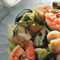 Lime Marinated Seafood Salad