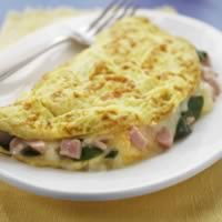 Spinach, Ham, & Cheese Omelet