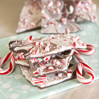 Candy Cane Chocolate Bark