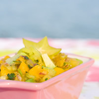 Mango-Pineapple Salsa with Banana Peppers and Fresh Ginger