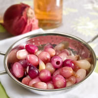 Honey Vinegar Glazed Pearl Onions
