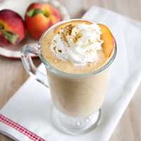 Vegan Peach Cobbler Shake
