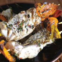 Grilled Barramundi Skewers