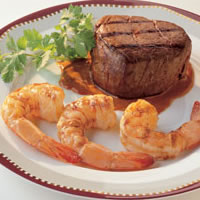 Shrimp & Filet with Peanut Ancho Chile Sauce