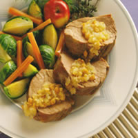 Applesauce-Stuffed Tenderloin