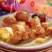 Tropical Pork Kabobs