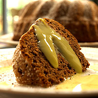 Chocolate BaNilla Cake with BaNilla Creme Anglaise