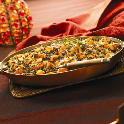 Wild Rice and Pumpkin Gratin
