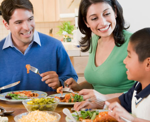 Family Sharing Nutritious Meal
