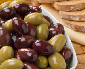 Mixed Olives and Bread