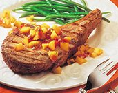 Citrus-Rubbed Veal Chops & Mango Salsa