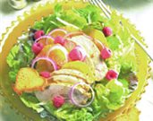 Chicken Salad with Fennel, Orange, and Raspberries