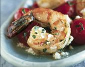 Shrimp with Cherry Tomatoes and Feta