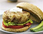 Texas Tuna Burger with Jalapeño Mayonnaise