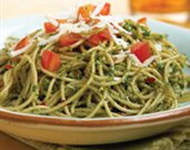 Pasta with Walnut-Basil Pesto