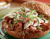 Shaved Barbecue Beef Sandwiches with Spicy Slaw