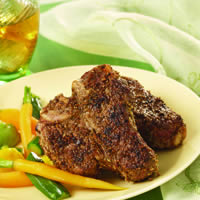 Adobo Crusted Lamb Loin Chops: Main Image