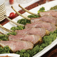 Lamb Lollipops with Festive Sauces: Main Image