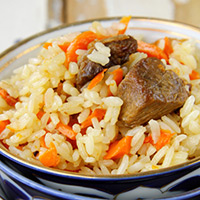 Asian-Spiced Lamb and Pilaf: Main Image