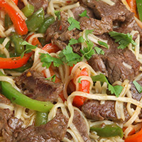 Asian Lamb Noodle Salad with Peanuts: Main Image