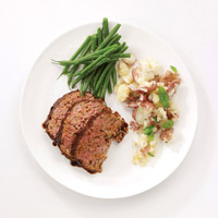 Balsamic-Glazed Lamb Meatloaf with Sun-dried Tomato Pesto: Main Image
