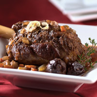 Lamb Chops with Fig and Port Sauce: Main Image
